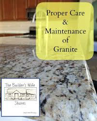 Ideas For Care Of Granite Countertops How To Clean Granite Countertops The Real How