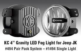 Jk Led Fog Lights New Kc Hilites 4 U2033 Gravity Led Fog Light With Jeep Jk And Universal
