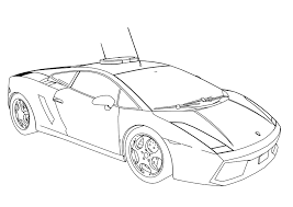 car lamborghini drawing police car coloring pages wecoloringpage