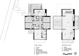 Beach House Floor Plans by First U0026 Second Floor Plan Beach Walk House Fire Island New York