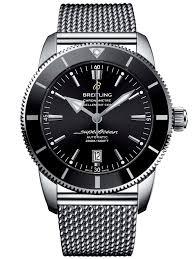 breitling steel bracelet images Breitling superocean heritage ii 46 black bracelet watch ab202012 jpg