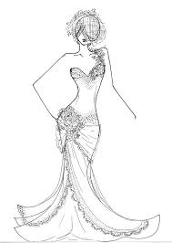 download fashion model coloring pages