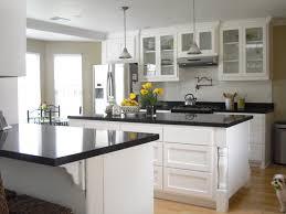 Kitchen Glass Cabinet by Kitchen Island White Wooden Kitchen Island Ideas With White Glass