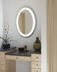 illuminated bathroom mirror with round and circle design lighted
