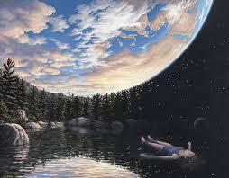 the phenemenon of floating optical illusion