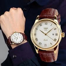 civo s brown genuine leather band date calendar wrist