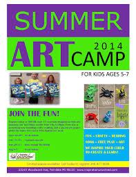 summer art camp inspiration uncorked