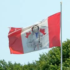 Candaian Flag Defaced Canadian Flag The Word