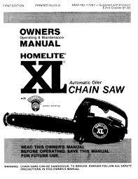 homelite chainsaws xl pdf owner u0027s manual free download u0026 preview