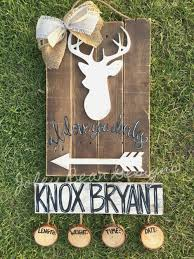 Deer Themed Home Decor Joley Bean Designs Deer Door Hanger Hospital Door Hanger