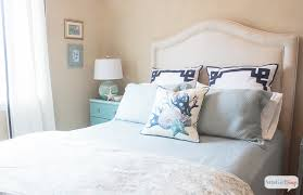 Coastal Bed Frame Sophisticated Coastal Decor In The Guest Bedroom Atta Says