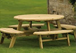 Round Garden Table With Lazy Susan by 8 Seater Round Wooden Garden Table And Chairs Starrkingschool