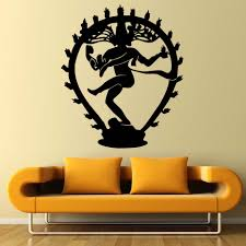home wall stickers shiva promotion shop for promotional home wall the hindu god of destruction shiva wall stickers home decor indian religion hinduism wall decals vinyl living room decorative