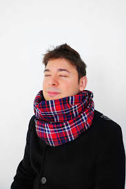 handmade red tartan infinity scarf red black white by urbe 24 90