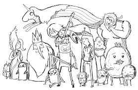 adventure time coloring pages kiopad me