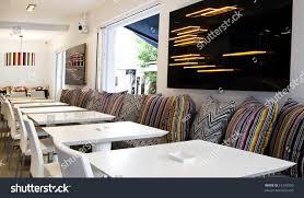 very modern decoration lounge cafe bar stock photo 51376909