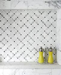 Marble Mosaic Backsplash Tile by White Gray Marble Flower Mosaic Tile Backsplash Com
