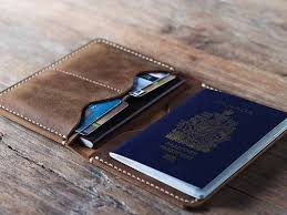 mens travel wallet images Leather passport holder secure your passport when traveling jpg