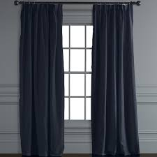 belgian linen pinch pleat drape navy williams sonoma