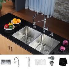 Sink With Double Faucet Undermount Sink U0026 Faucet Sets Shop The Best Deals For Nov 2017