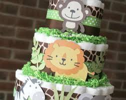 mini jungle diaper cakes set of 6 safari baby shower baby