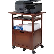 Computer And Printer Desk Winsome Piper Work Station Walnut Walmart Com