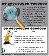 5th Element Periodic Table Fun Elemental Mystery Activity Element Periodic Table Atom Jr High