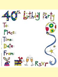 40th birthday invitations woman free invitations ideas
