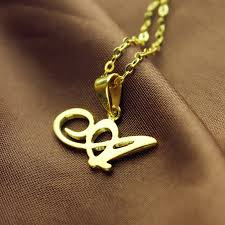 get name necklace personalized letter necklace 18k gold plated