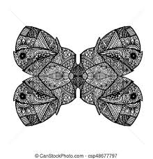abstract pattern butterfly abstract pattern butterfly stylized symmetrical monochrome eps