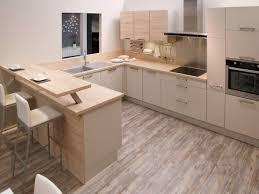 ensemble de cuisine en bois vue sur l ensemble de l espace cuisine de cet appartement les plans