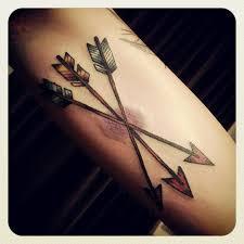 three cross arrow tattoos on arm tattooshunt com