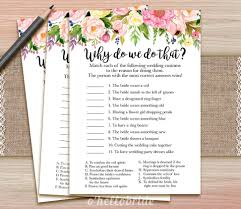 why do we do that pink bridal shower game guess wedding