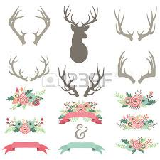wedding flowers clipart 508 floral antlers stock illustrations cliparts and royalty free