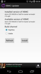 xbmc apk xbmc updater 1 0 10 apk for android aptoide