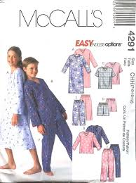 mccall s sewing pattern 4291 boys size 12 16 easy pajamas
