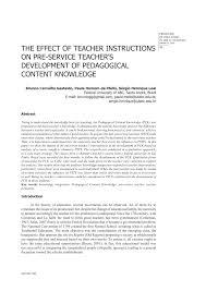 the effect of teacher instructions on pre service teacher u0027s
