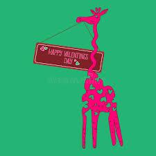 s day giraffe vector giraffe pink s day stock vector image 85362848
