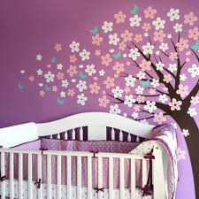 Cherry Blossom Tree Wall Decal For Nursery Cherry Blossom Tree Decal Style Scheme A