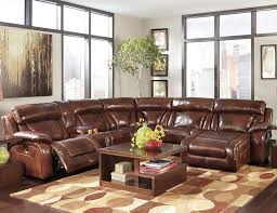 Brown Leather Sofa With Chaise Polaris Large Sectional Sofa In Black Leather In Large Leather
