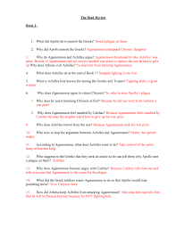 answers to the iliad review