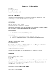 Example Of A Resume Profile by Personal Statement For A Resume Samples Of Resumes