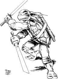 leonardo peter laird art tmnt turtle ninja