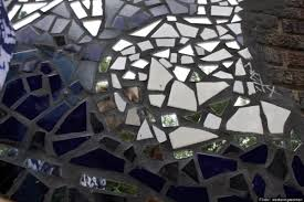 Shattered Glass Table by Broken Glass Projects Do It Yourself Ideas For Reusing Mirror