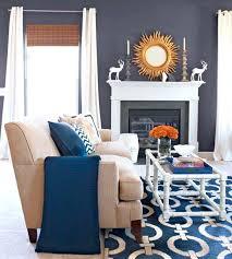blue and orange decor orange and grey living room decor royal blue brown room sofa gray