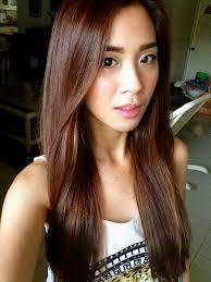 highlights underneath hair medium brown hair asian