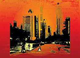 Modern City Modern City Life Vector Art U0026 Graphics Freevector Com