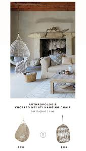 Anthropologie Side Table by Anthropologie Knotted Melati Hanging Chair Copycatchic