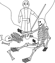 ezekiel and the valley of dry bones coloring page our bible