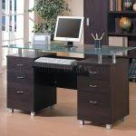 Modern Espresso Desk Modern Espresso Desk With Drawers Thediapercake Home Trend